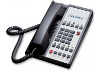 Teledex Diamond+S-10 Hotel Hospitality Telephone Black DIA653391